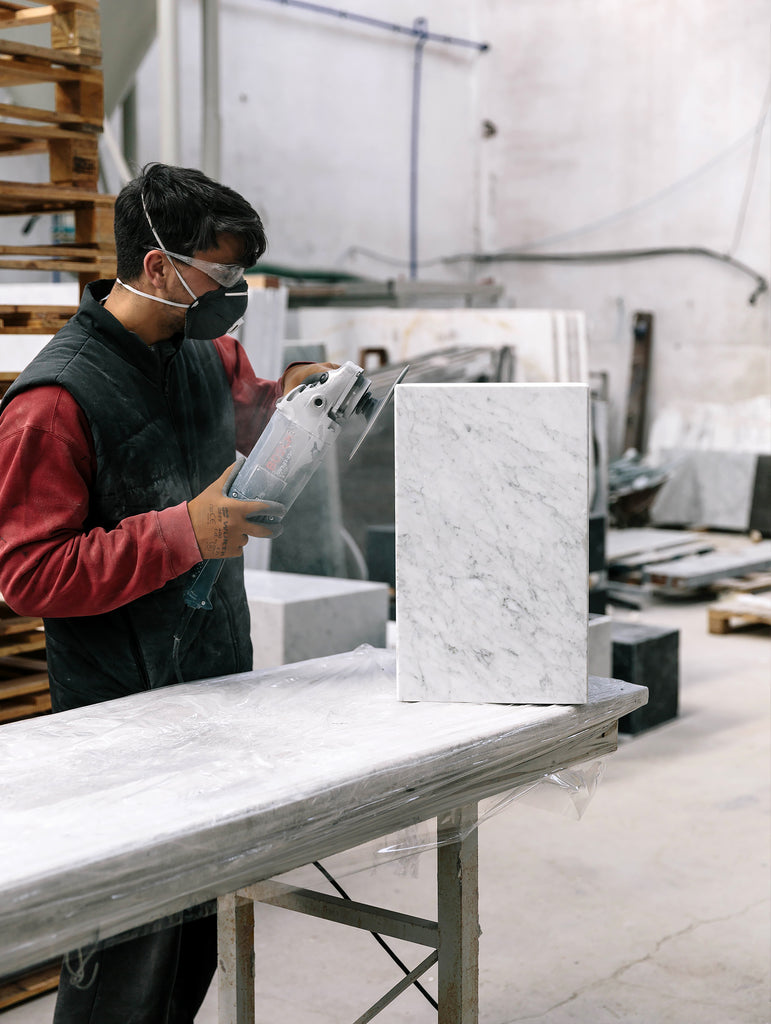 Making the Menu Marble Plinth... In the factory