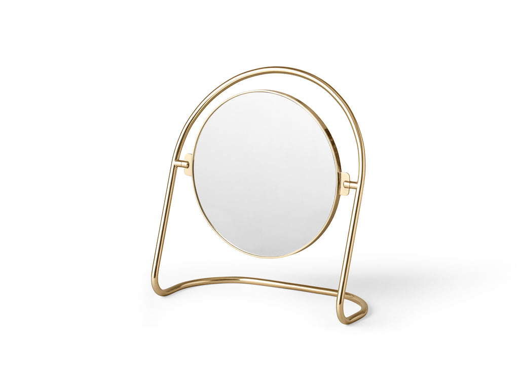 Polished Brass Nimbus Table Mirror by Menu