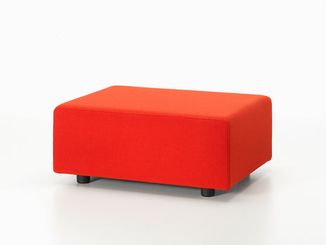 Red Polder Ottoman by Vitra