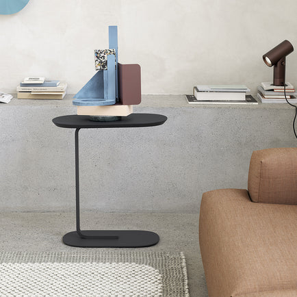 Black Relate Side Table by Muuto