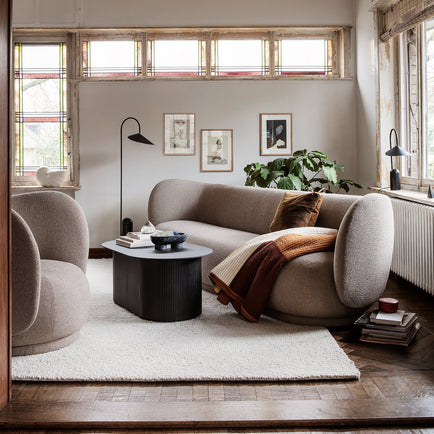 Rico 3-Seater Sofa in Bouclé Sand by Ferm Living