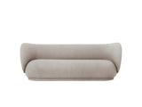 Rico 3-Seater Sofa in Brushed Sand by Ferm Living