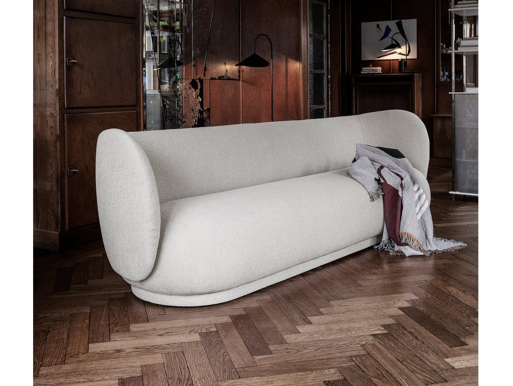 Rico 4-Seater Sofa in Off-White Bouclé by Ferm Living