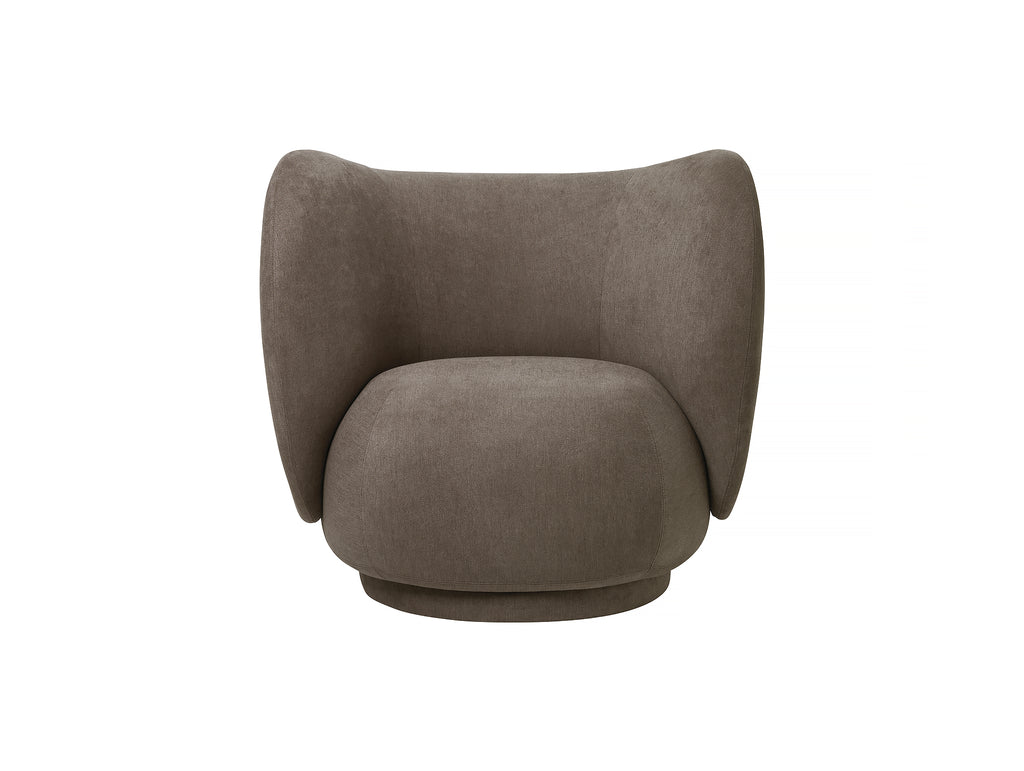 Rico Lounge Chair in Brown Brushed by Ferm Living