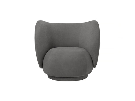 Rico Lounge Chair in Grey Brushed by Ferm Living