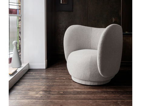 Rico Lounge Chair in Off-White Bouclé by Ferm Living