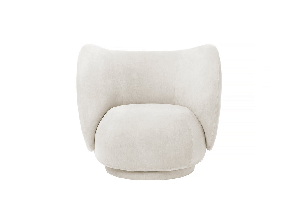 Rico Lounge Chair in Off-White Brushed by Ferm Living