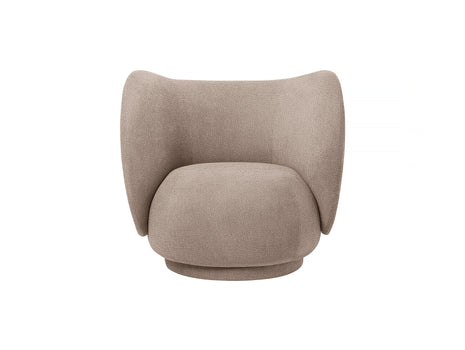 Rico Lounge Chair in Sand Bouclé by Ferm Living