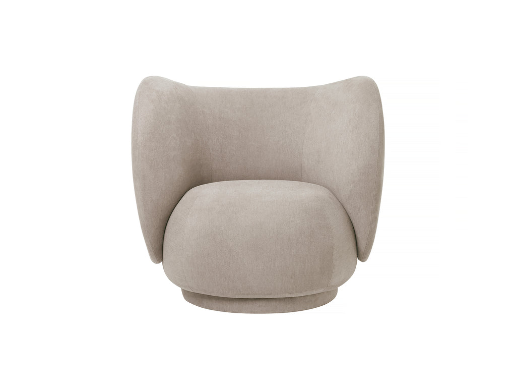 Rico Lounge Chair in Sand Brushed by Ferm Living