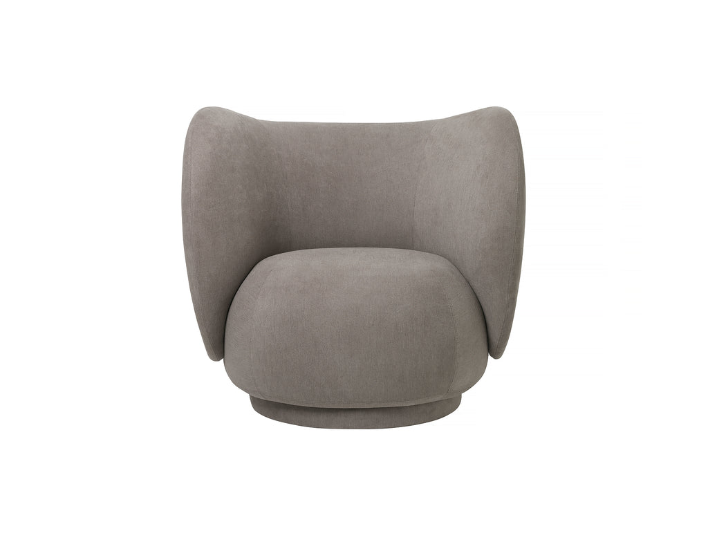 Rico Lounge Chair in Warm Grey Brushed by Ferm Living