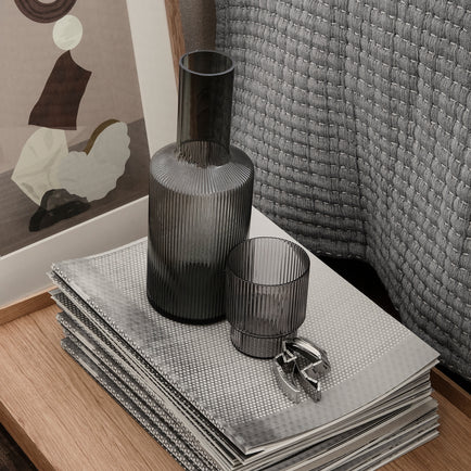 Ripple Carafe (Smoked Grey) by Ferm Living