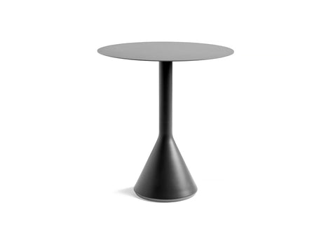 Round 70 cm Anthracite Palissade Cone Table by HAY