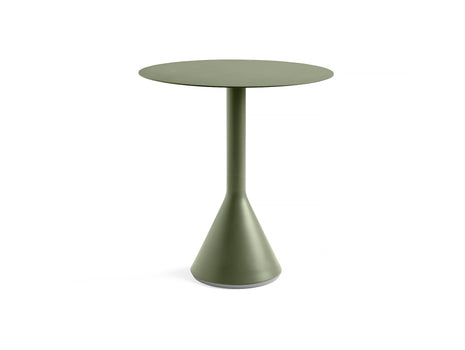 Round 70 cm Olive Palissade Cone Table by HAY