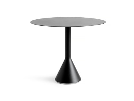 Round 90 cm Anthracite Palissade Cone Table by HAY
