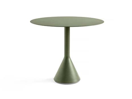 Round 90 cm Olive Palissade Cone Table by HAY