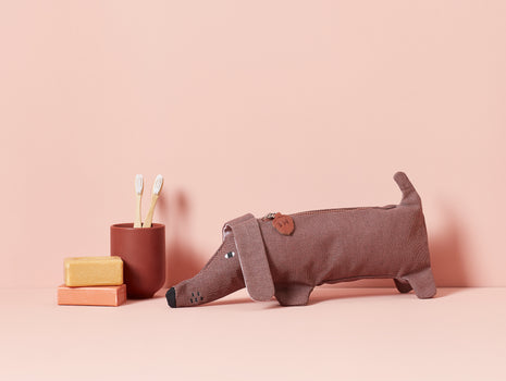 Sausage Dog Pouch by Donna Wilson