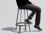 Revolver Bar Stool by HAY - Signal Black, Low