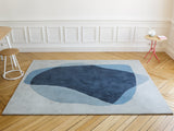 Blue/Grey Serge Rug by Hartô