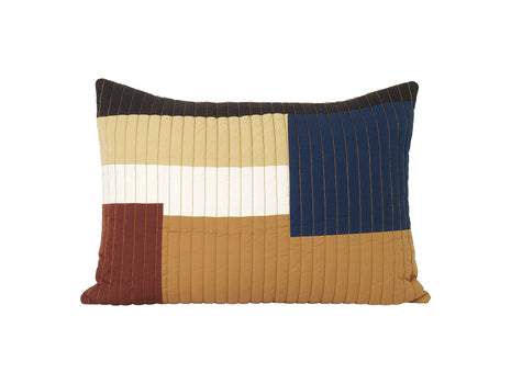 Mustard Shay Quilt Cushion 60 x 40 cm by Ferm Living