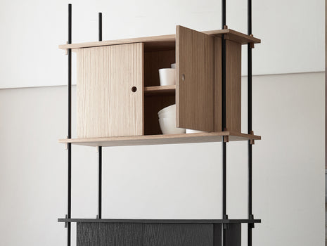 Shelving System - Cabinet - Oiled Oak and Black Ash