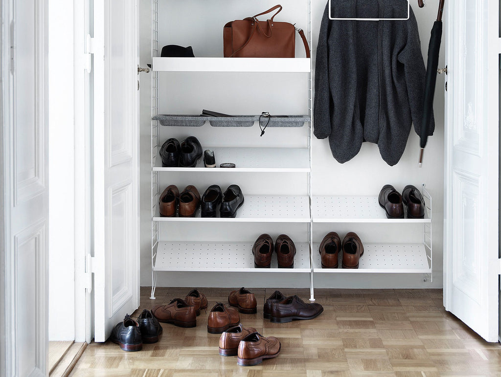 String Shoe Shelves - White : shelf shoe cabinet - Cheerinfomania.Com