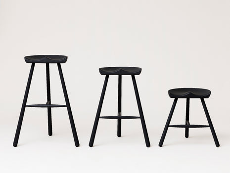 Shoemaker Chair No.78, No.68 and No.49 in Black Stained Beech