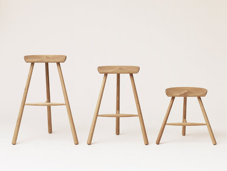Shoemaker Chair No.78, No.68 and No.49 in White Oiled Oak