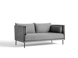 Silhouette Sofa - Olavi 03, Black Base, Black Piping