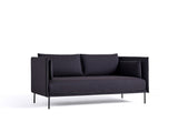 Silhouette Sofa - Black base, Remix 0373, Black piping