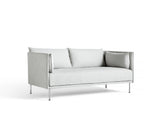 Silhouette Sofa - Chrome base, Linara Fog, Matching piping