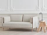 Silhouette Sofa - Coda 100, Oak Base, Cognac Piping