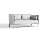 Silhouette Sofa - Oak base, Roden chamois, Matching piping