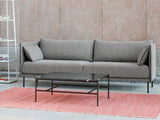 Silhouette Sofa - Black base, Olavi 03, Black piping