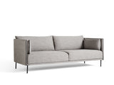 Silhouette Sofa - Black base, Ruskin 33, Black piping