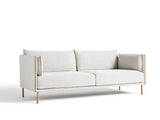 Silhouette Sofa - Oak base, Coda 100, Cognac piping