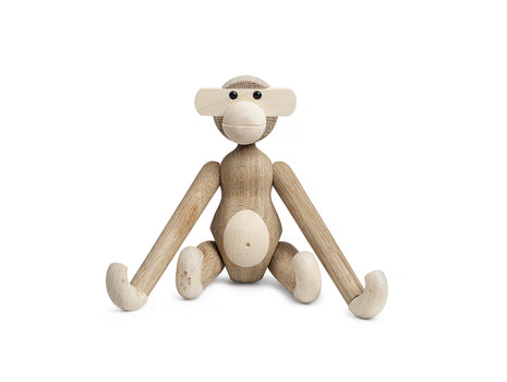 Small Wooden Monkey in Oak and Maple by Kay Bojesen