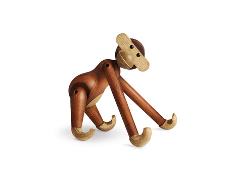 Small Wooden Monkey in Teak and Limba by Kay Bojesen