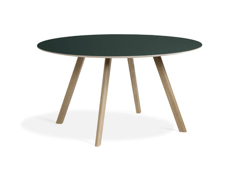Soaped Oak Green Linoleum Copenhague Round Dining Table CPH25 by HAY