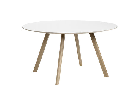 Soaped Oak White Laminate Copenhague Round Dining Table CPH25 by HAY