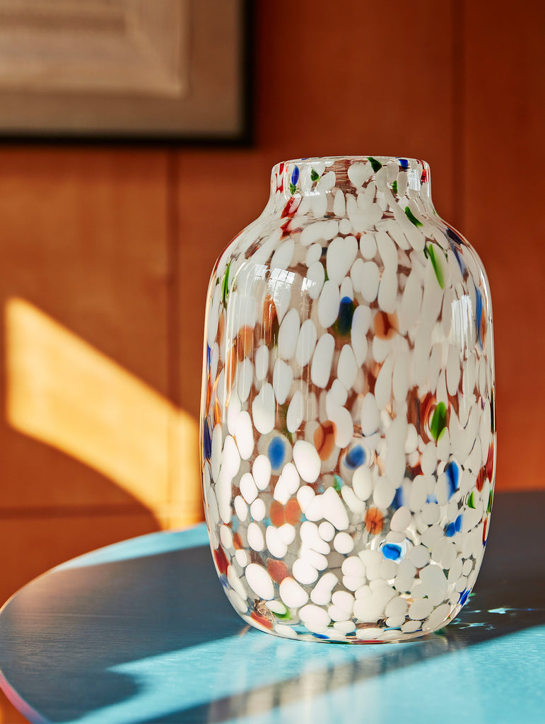 White Dot Splash Vase by HAY