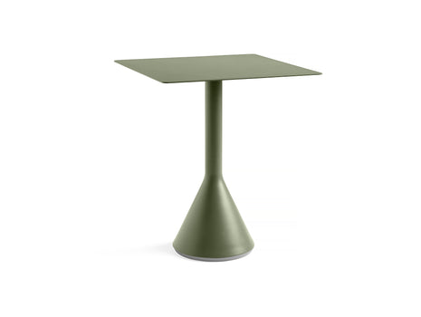 Square Olive Palissade Cone Table by HAY
