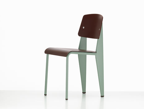 Vitra Standard SP Chair, Chestnut Seat, Mint Base