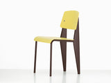 Vitra Standard SP Chair, Citron Seat, Chocolate Base