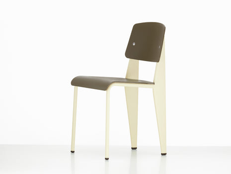 Vitra Standard SP Chair, Olive Seat, Ecru Base