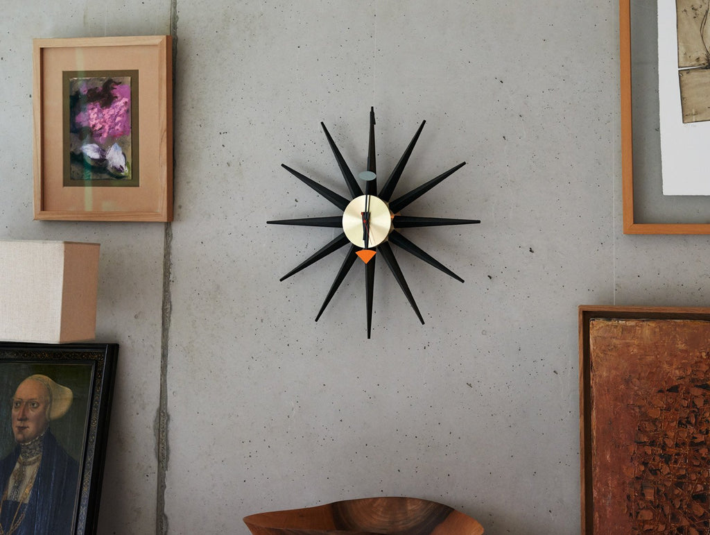 15bbf3f71796 George Nelson Sunburst Wall Clock by Vitra · Really Well Made