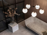 TR LED Bulb by Menu with the Leonard Chandelier