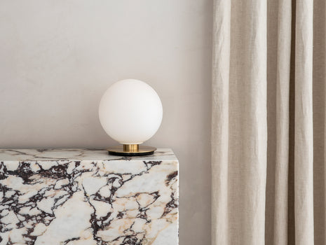 Menu TR Table and Wall Light (Brass Edition) - Matt Opal Bulb