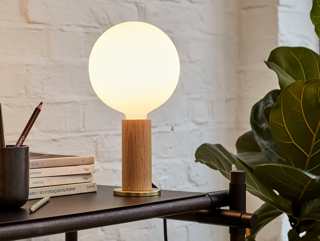 Oak Knuckle Table Lamp by Tala