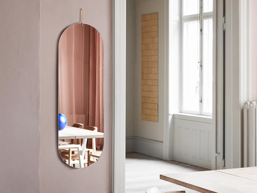 Moebe Tall Wall Mirror - Brass