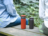 Travel Tumbler vacuum flask by Kinto - Red and Black
